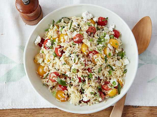 Gina's Orzo Salad: Food Network, Pasta Salad, Foodnetwork Com, Gina Orzo, Easy To Follow Gina, Gina Neeli, 20 Minute, Orzo Salad Recipes, Cherries Tomatoes
