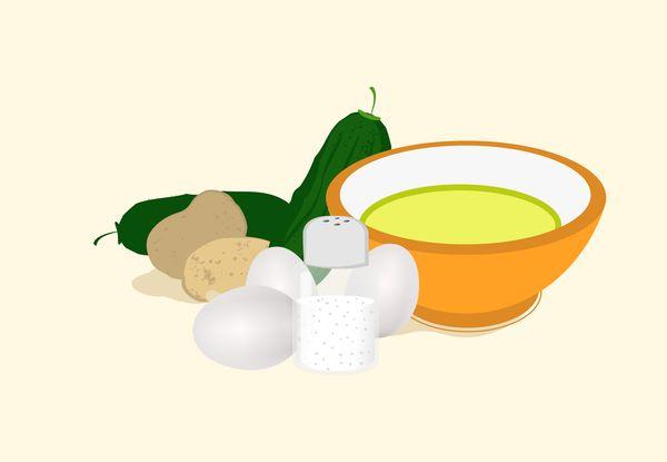 Papinha de batata, abobrinha e ovo  Ingredientes  - 1 batata  - 1 colher (chá) de cebola picada  - ½ unidade de abobrinha picada  ...