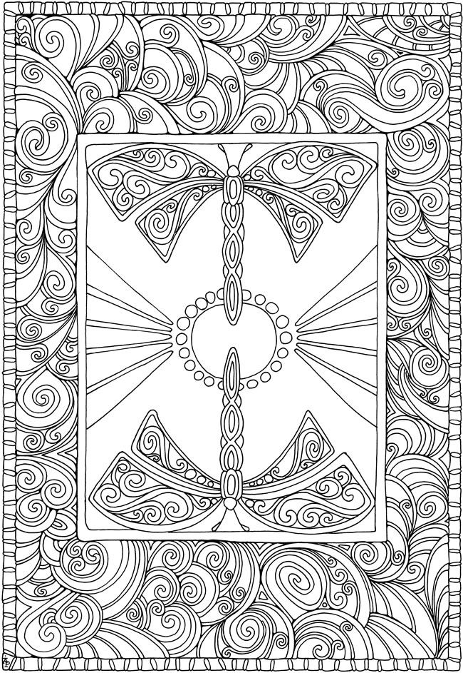 creative haven entangled dragonflies coloring book welcome to dover publications davlin publishing