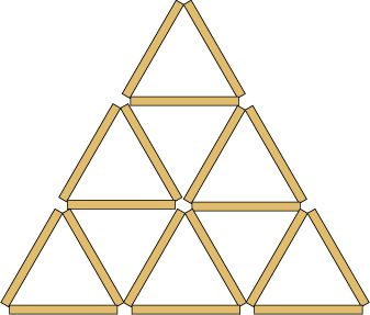 9 triangles from matches.nrich maths investigation
