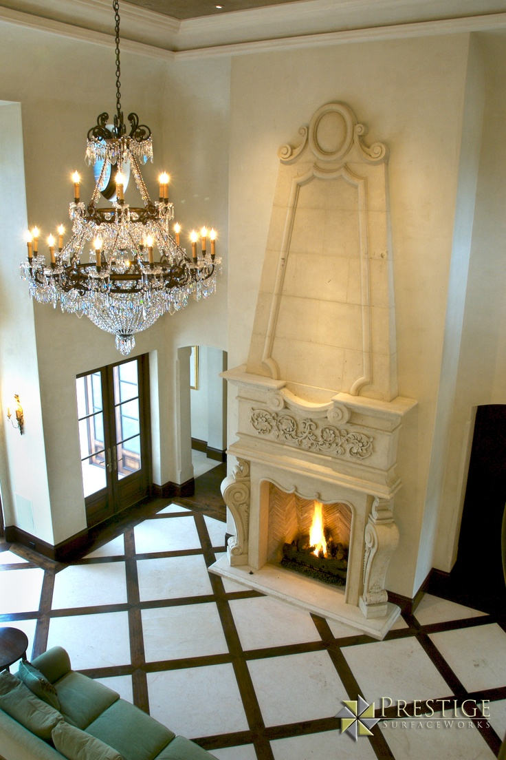 Custom 36x36 Limestone Flooring And Solid Limestone Fireplace More Pinterest Limestone