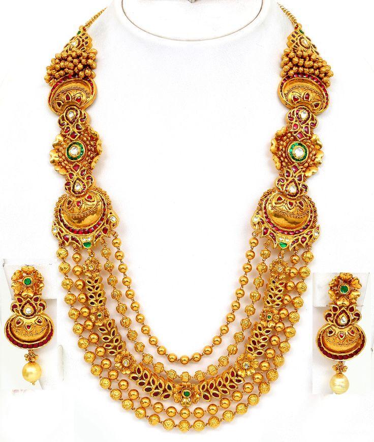 Antique Bridal Gold Necklace Set
