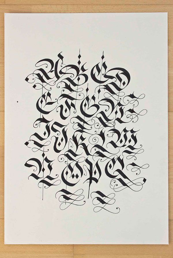 Diverse Blackletter Alphabets Done With The Parallel Pen