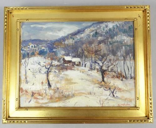 ... oil painting winter landscape ebay more winter landscape oil paintings