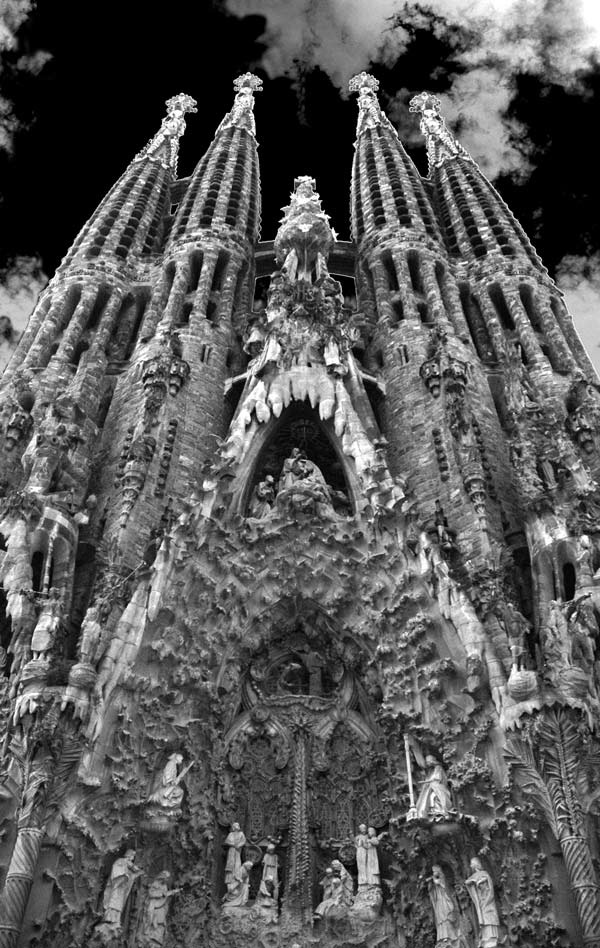 Gaudi... Cathederal... Barcelona... Photography & Photoshop by Peter Carman 2006.
