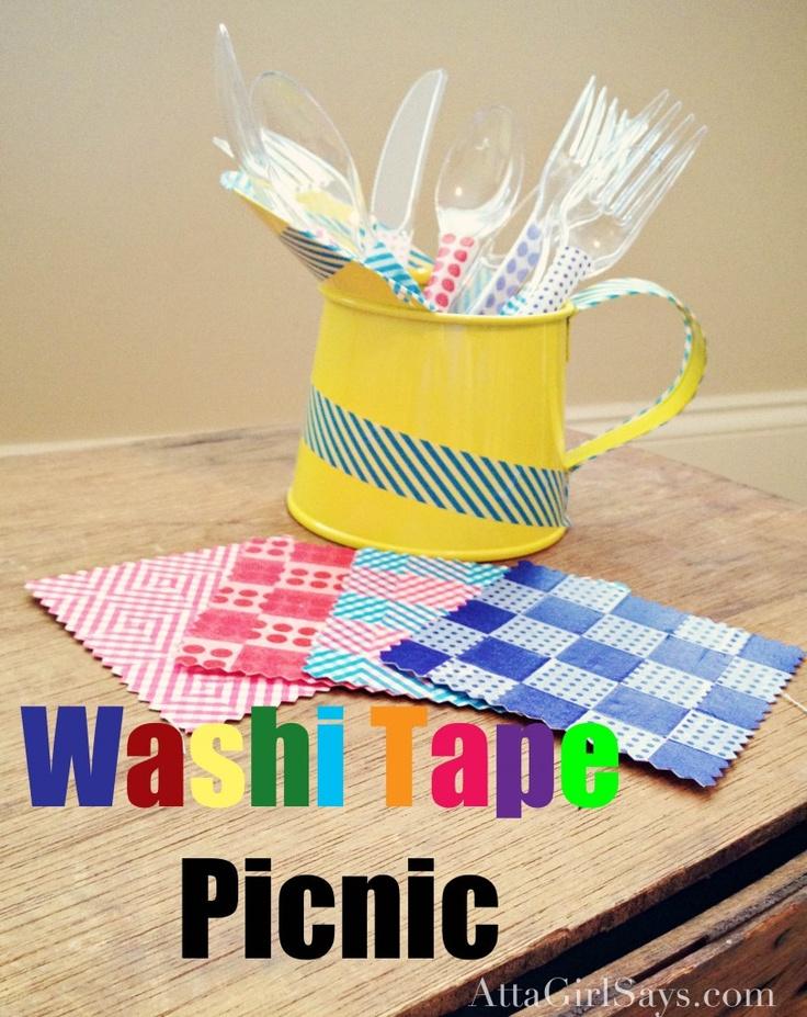 Washi Tape Picnic AttaGirl Says washitape craft