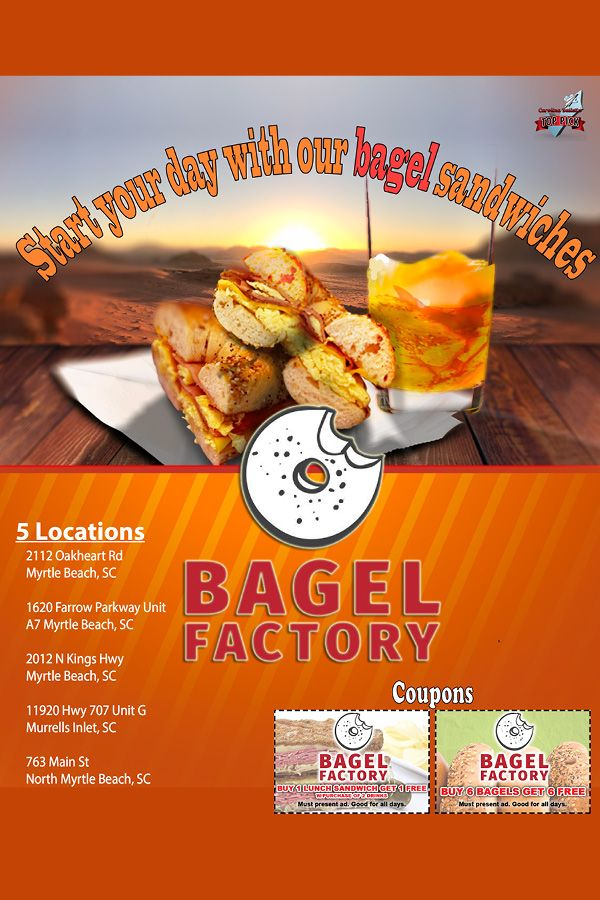 Myrtle Beach Resturants Open On Christmas Eve 2020 Start your day at 🥪The Bagel Factory🥪 with a mouthwatering