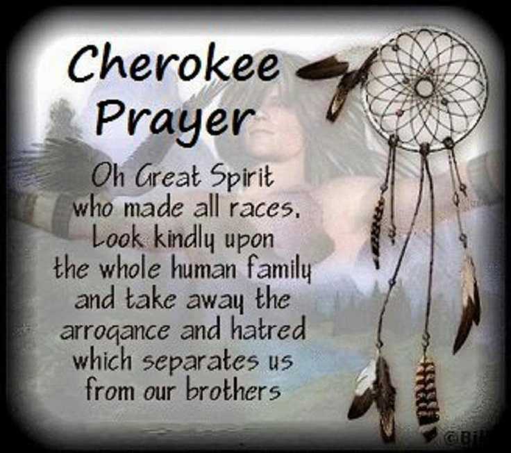 Cherokee Prayer ~ Oh Great Spirit Who Made All Races • Look Kindly Upon The Whole Human Family And Take Away The Arrogance And Hatred Which Separates Us From Our Brothets •