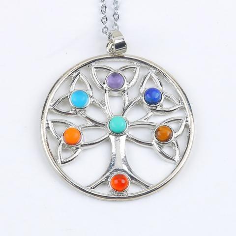Reiki 7 Chakra Healing Necklace for Women