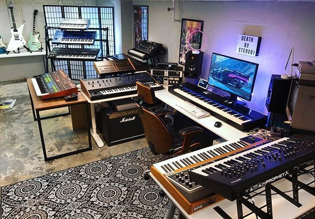 Sweet Synths In This Epic Studio By Protovolt Musicstudio