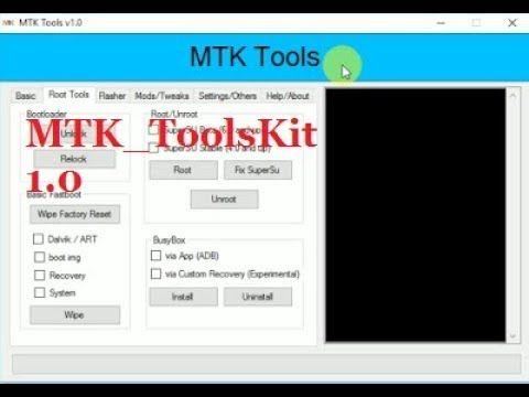 MTK ToolsKit 1 0 Reset Pattern Mtk Flasher Install Driver