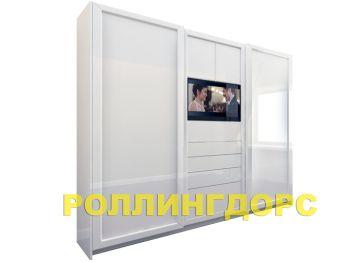 Шкаф-купе со встроенным телевизором от роллингдорс! мебель г.