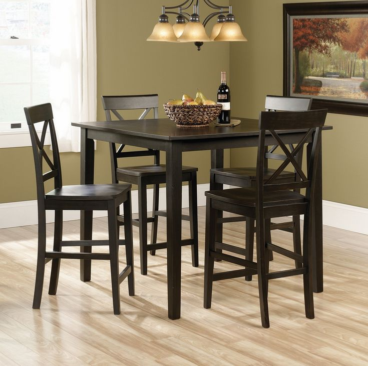 Estate Black 5 Piece Counter Height Table Set