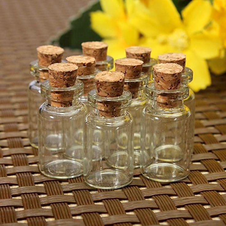 10 stücke Nette Mini Klar Korken Glasflaschen Fläschchen Jars Container Kleine Wishing Flasche # ZH210