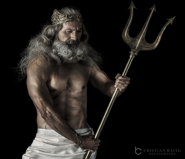 Poseidon or Neptune in roman mythology God of the sea