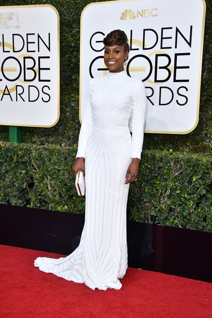 Issa Rae in Christian Siriano @ the 2017 Golden Globe Awards