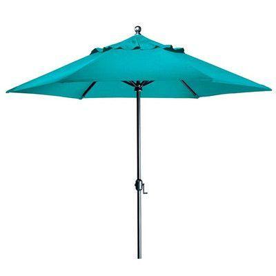 Tropitone Portofino 9.5' Market Umbrella Fabric: Sparkling Water, Frame Finish: Parchment