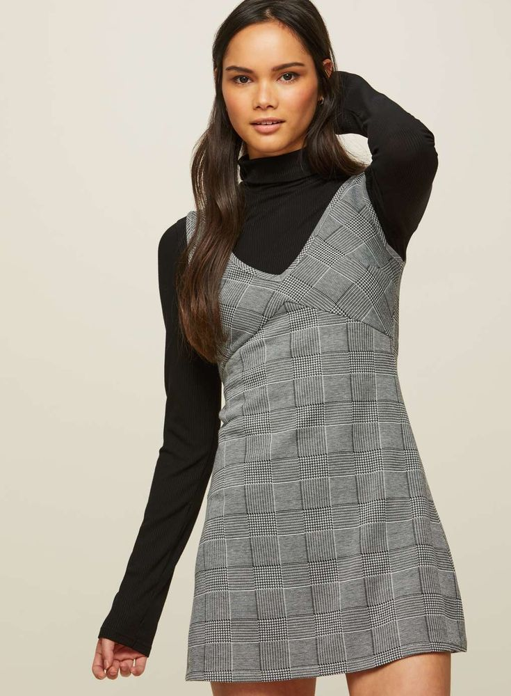 Rejuvenate your daytime #fashion look with this @MissSelfridge Checked Pinafore Dress 😍