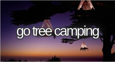 Go Tree Camping / Bucket List Ideas / Before I Die