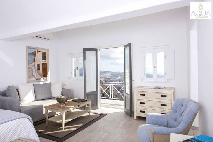 Book our Junior Suite and enjoy the breathtaking vistas from the privacy of your very own haven in Santorini! More at aquasuites.gr/