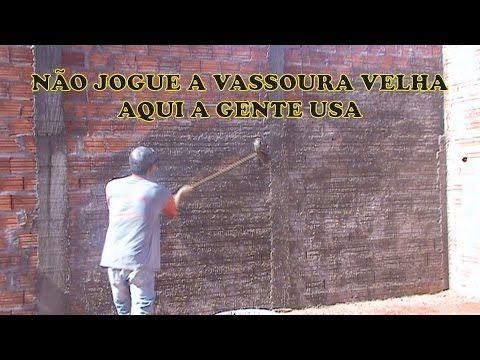 CHAPISCO DE VASSOURA BEM MELHOR. CANSA MENOS - YouTube