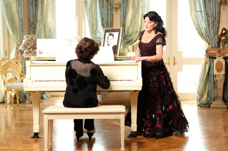 The writer of The Rose, Michele Brourman at piano with Irina Maleeva standing and singing.