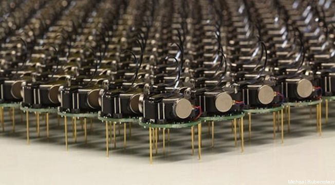 Kilobots, small vibrating robots use the ATmega328  Thanks to pals at Evil Mad Scientist, I learned about these small self-powered autonom...