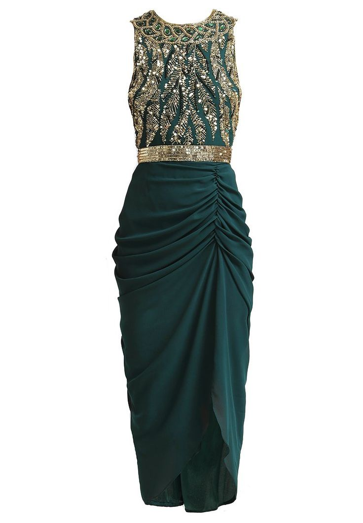 Virgos Lounge - GENEVIEVE - evening dress - green and gold // Pinned by Dauphine Magazine, curated by Castlefield (wedding invitation, branding, pattern designs: www.castlefield.co). International Couture Fashion/Luxury Wedding Crossover Magazine, www.dauphinemagazine.com. Instagram: @ dauphinemagazine / @ castlefieldco. Dauphine and Castlefield only claim credit for own images.