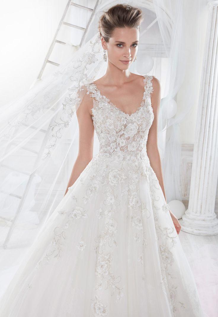 Vestido de novia Nicole Modelo 18025 - Eva Novias