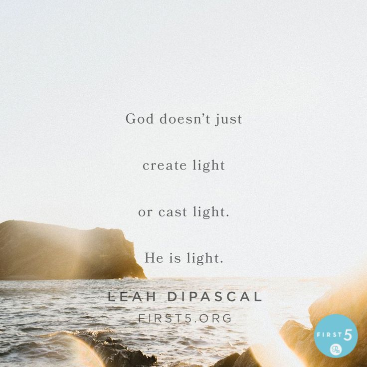 #First5 @First5App Prayer: Heavenly Father, You are light and there is no darkness in You. It's true that I once lived in the darkness, but now I can rejoice because Your light shines brightly in me and through me to a darkened world. Help me to live as Your child of light – walking in the truth of Your Word, the righteousness of Christ and the goodness of Your grace. In Jesus' name, amen.