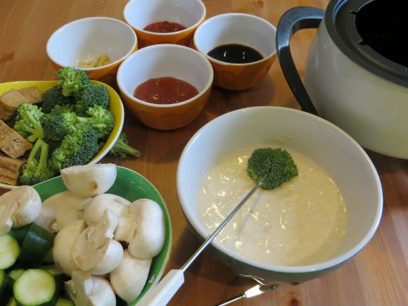 Beer Battered Vegetables And New Years Eve Fondue