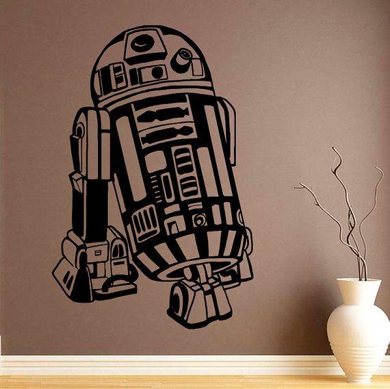 R2-D2 Vinyl Decal Star Wars Wall Sticker Comics da parete in vinile di decalcomanie parete Decor /4mkl/