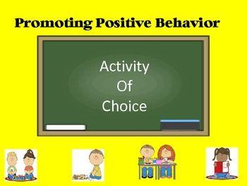 Classroom Management - Activity of Choice - Reward Positiv
