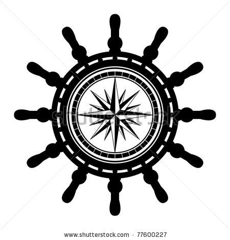 Ship steering wheel abstract, vector illustration by astudio, via ShutterStock