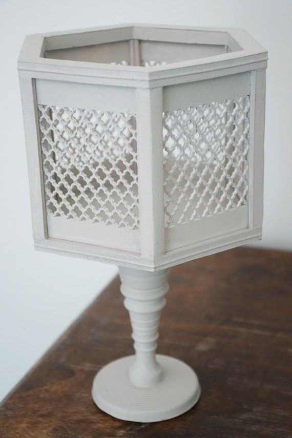 Handmade Vintage White Hexagon Vase by ThadamCreativeDesign