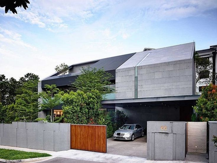 Zen-Inspired Dwelling With A Powerful Modern Architecture Geometry : 66MRN House