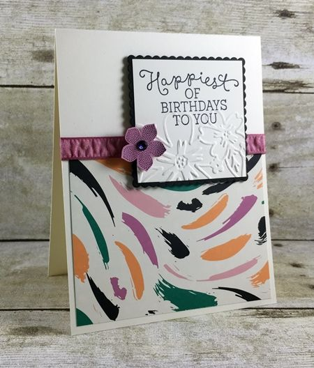 Cottage Greeting Stamp Set and Petite Petals Stamp Set by Stampin' Up! Border Buddies PDF Tutorial Card
