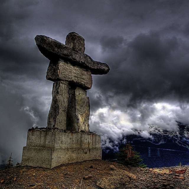 Inuksuk, Whistler, Canada ; from the photography of Ecstaticist