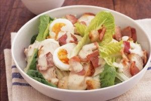 Caesar salad with Chicken, Bacon and Egg