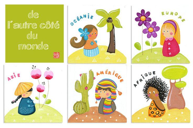 Les 5 continents cole maternelle picture picture mater - Decoration voyage autour du monde ...