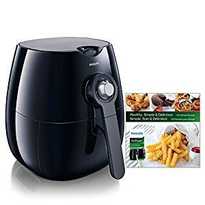 Amazon.com: Philips Airfryer, The Original Airfryer with Bonus 150+ Recipe Cookbook, Fry Healthy with 75% Less Fat, Black HD9220/28: Kitchen & Dining