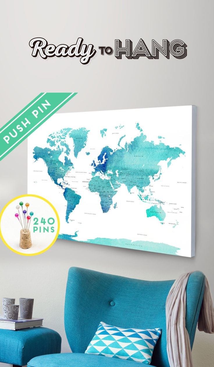 Best 25 world map with pins ideas on pinterest world map travel push pin world map canvas world map watercolor blue countries world map with pins sciox Image collections