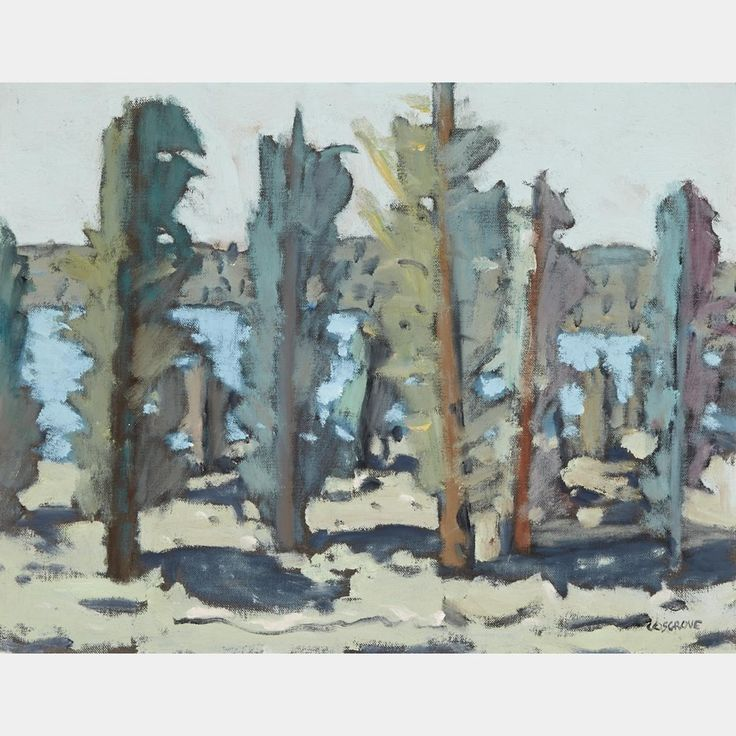 STANLEY MOREL COSGROVE, R.C.A. LES ARBRES  oil on canvas board signed  14 ins x 18 ins; 35.6 cms x 45.7 cms