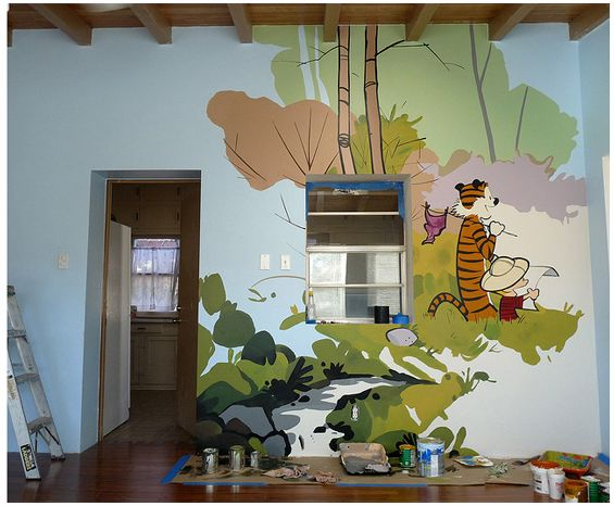 32 best things that make me laugh images on pinterest for Calvin and hobbes bedroom mural
