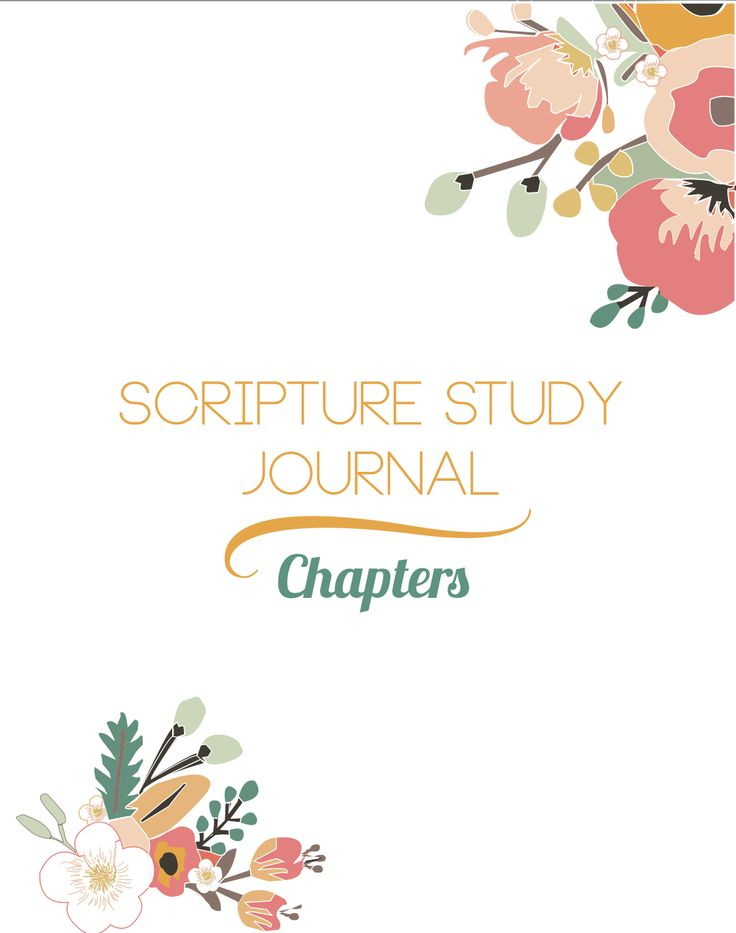 CHAPTERS Scripture Study Journal Floral Print | The Redheaded Hostess #scripture #journal  http://www.theredheadedhostess.com/shopping/#