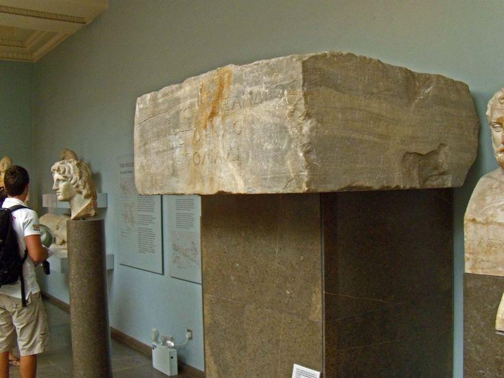Alexander's dedication at Priene, British Museum, London