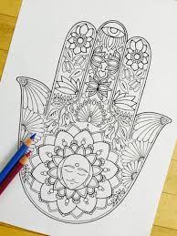 how to draw a hamsa hand