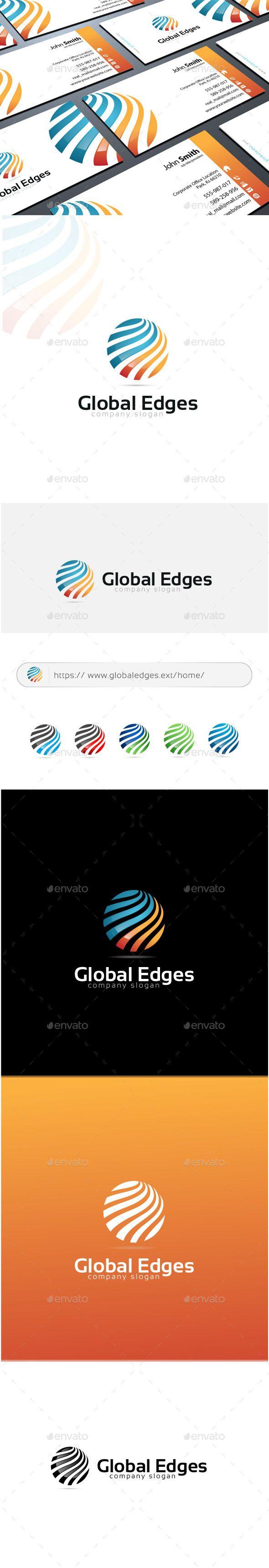 Global Edges  Logo Design Template Vector #logotype Download it here: http://graphicriver.net/item/global-edges-logo/11334621?s_rank=895?ref=nesto