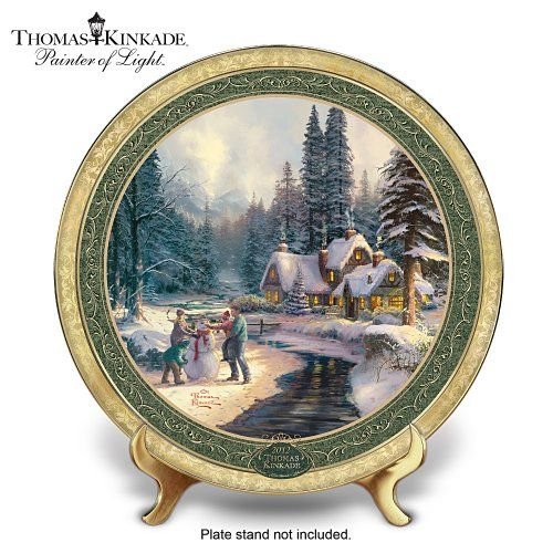 Thomas Kinkade Annual 2012 Holiday Collector Plate At Winter`s Glen $49.95  sc 1 st  Pinterest & 35 best Thomas Kinkade Plates images on Pinterest | Dishes Thomas ...