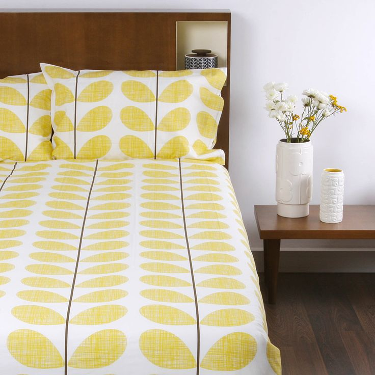 Orla Kiely - Scribble Soft Duvet Cover - Lemon  - King